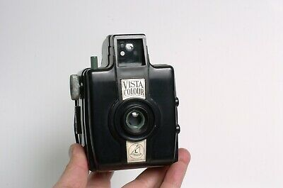 VISTA COLOUR CAMERA  6x6 medium format Point & Shoot camera. Works! England.