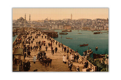 Ottoman 1800s Istanbul City Poster Prints Wall Art Pictures Quality Gloss Paper