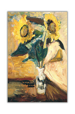 Vase Of Sunflowers By Matisse Henri Wall Decoration Abstract Poster Prints