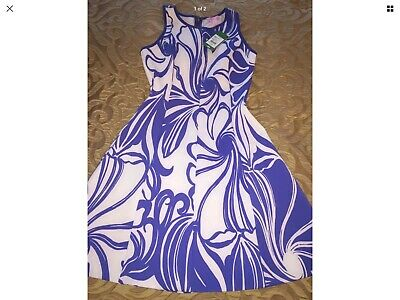 1679ecd4639c NWT Lilly Pulitzer Cove Dress Iris Blue Windsurfer Engineered Dress Small  $178!