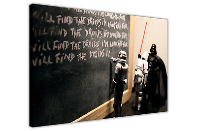 Canvas Quotes Wall Art Prints Star Wars Darth Vader Detention Pictures Photos