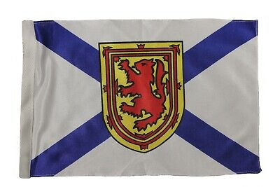 "NOVA SCOTIA  CANADA Provincial 12"" X 18"" Inch CAR STICK FLAG BANNER WITHOUT POLE"