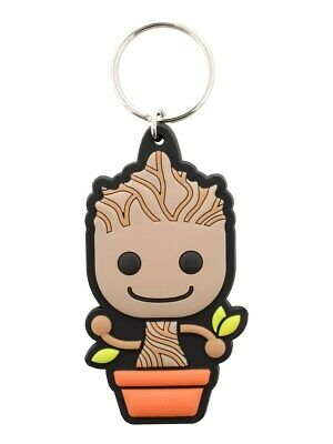 Marvel Comics Guardians Of The Galaxy Baby Groot Rubber Keyring