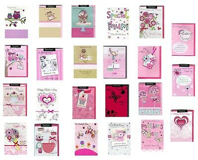 120 Second Nature Hand Finished Mother's Day - Wholesale Job Lot Greeting Cards