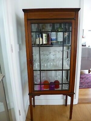 Edwardian Display Curio Cabinet Glass and Wood