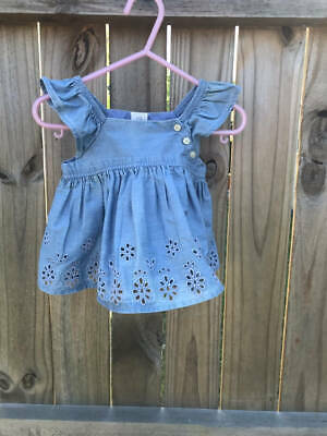 7de92602d NWT BABY GAP Girls Size 0 3 6 12 18 24 Months Denim Chambray Flutter ...