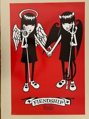 Emily The  Strange,'Fiendship',Cosmic Debris,Authentic 2007 Poster