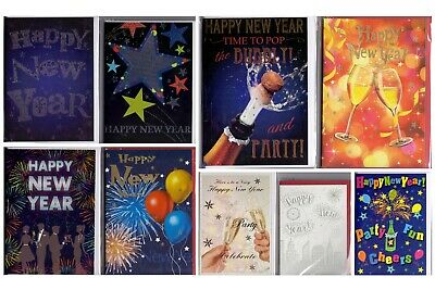 77 New Years Cards - Wholesale Job Lot Greeting Cards