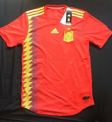7aa392b0f NWT Men's Adidas Spain 2018 Home Jersey ClimaChill Size Medium Retails At  $130