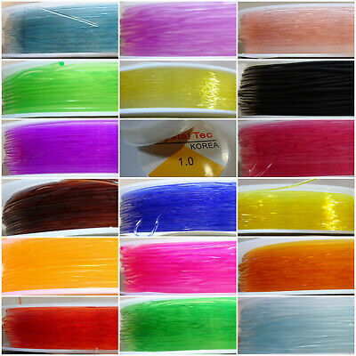 50 Mtrs Various Colour 0.8mm-1mm Stretch Flat Elastic Beading Thread