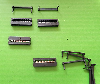 26 Way IDC 2mm Pitch Computer Sockets Female Ribbon Cable Strain Relief's x 8pc