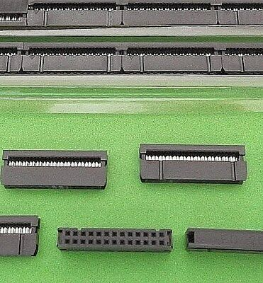 26 Way 2mm Pitch Computer IDC Sockets Female Ribbon Cable + Strain Relief 25pcs