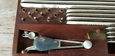K+E Keuffel & Esser Leroy Lettering vintage 1950 drafting tools set in wood box