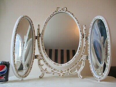 Beautiful Vintage French Louis Xv 3 Way Dressing Table Mirror