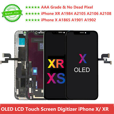 OLED For iPhone X A1865 A1901 XR LCD Display Touch Screen Digitizer Assembly