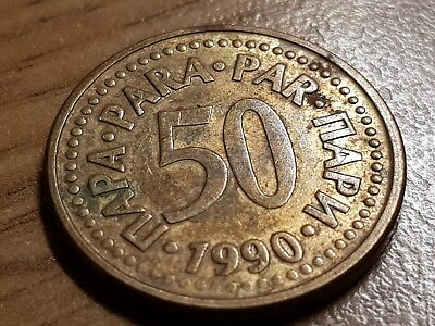 50 Para 1990 Excellent condition coin Yugoslavia
