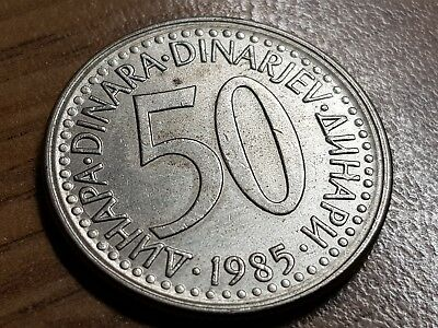 50 Dinari 1985 Excellent condition coin Yugoslavia