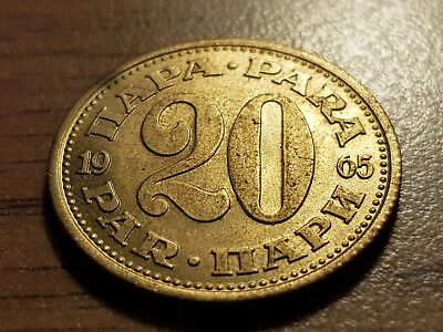 20 Para 1965 Excellent condition coin YUGOSLAVIA
