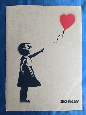 "Banksy Dismaland free art signed ""Balloon girl"""