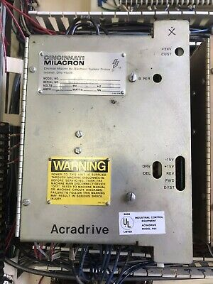 Cincinnati Milacron Acradrive P-55; 240 Volts; 1 PH; 60 HZ; 35 Amps