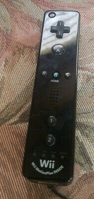 Black Nintendo Wii Motion Plus Controller Remote Wii RVL-036 Official Authentic