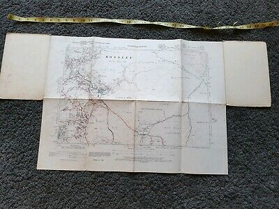Vintage 'Provisional' Ordnance Survey OS Map, Mossley, Yorkshire (ref A14)