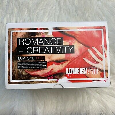 Love is Art Luvtone Red Canvas and Paint Kit DIY Date Night Romantic Activity