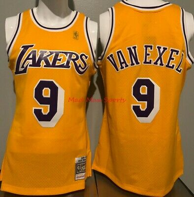 76eb18e8f06 NICK VAN EXEL Los Angeles LAKERS '96 Mitchell and Ness MEN'S Swingman Jersey  M