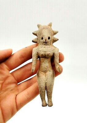 Superb Indus Valley Ca.2500Bc Terracotta Standing Female Fertility Figurine R130