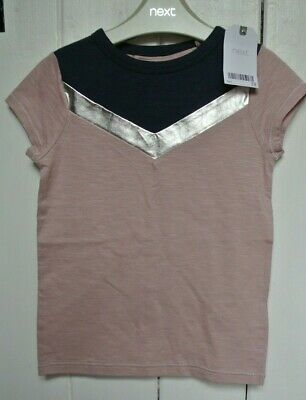 New Next girls 100% cotton top Dusky pink age 5  years