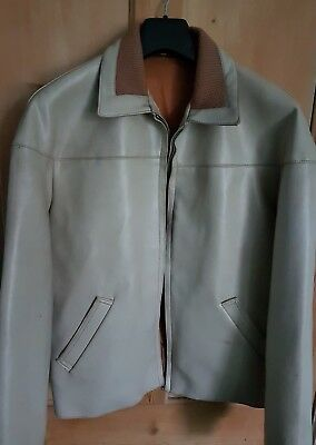 Original Vintage 1960s Kett Scooter Jacket/Coat, 44 Inch Chest, Beige & Brown