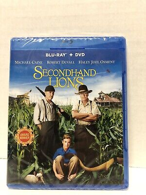 Secondhand Lions (Blu-ray/DVD, 2009,2-Disc Set) Michael Caine Robert Duvall New