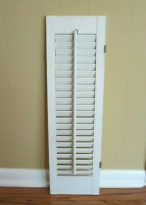 "One Piece of Wooden Louvered Window Shutter 8"" Wide x 28"" Tall"