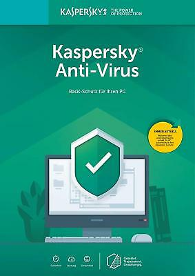 Kaspersky Antivirus 2019 / 2018 1PC 3PC 5PC / 1 Jahr Vollversion