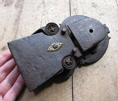 Antique Decorative Iron Door Lock Display Piece