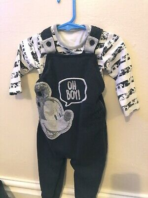 bfe272d41 BABY BOY 0-3 Months New Tags Disney Outfit Mickey Mouse Dungarees ...