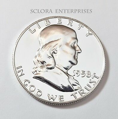 1958 Ben Franklin Half Dollar *Uncirculated*  *90% Silver Proof* *Free Shipping*