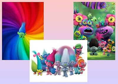 Trolls  A5 A4 A3 Textless Movie & DVD Posters