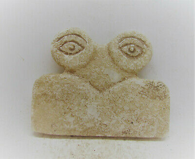 V.f Circa 6000Bce Ancient Syro-Tell Brak Alabaster All Seeing Eye Idol