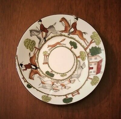 "Fine Bone China ""Hunting Scene"" 5 1/2""  ""Saucer"" Plate By Coalport (Wedgwood)"
