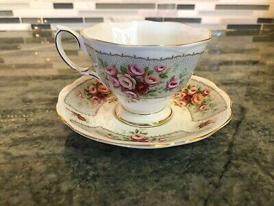 Vintage Royal Albert Bone China Rosedale Series Cup and Saucer