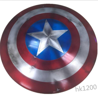 Top Captain America Shield 1:1 Full Aluminum Metal Shield 75th Collection Prop