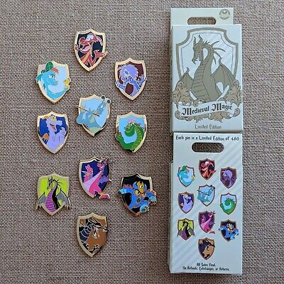 Dragons Medieval Magic Mystery Box Pin 2019 Disney Parks LE 480