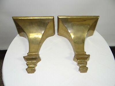 "Vintage Brass Corbels set of 2 - 11"" Tall"