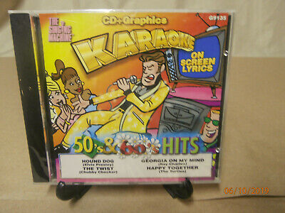 The Singing Machine 50's & 60's Hits CD+Graphics KARAOKE On Screen Lyrics - New