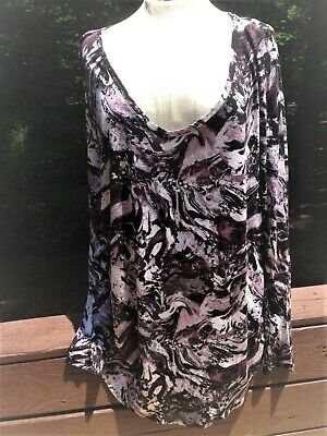 3ef36c000ef Womens Simply Vera Wang Top/shirt/blouse multi-color Long Sleeve Size 2X