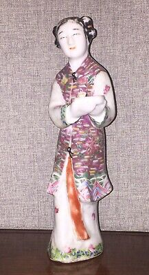 Chinese famille rose porcelain statue, Republic Period.