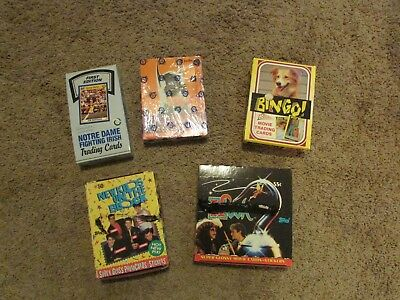 Lot of (5) Unopened Non Sports / Sports Trading Card boxes with Batman / NKOTB