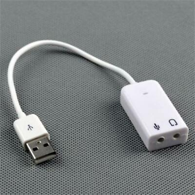 Pour Pc Mac Adapter Cordon Usb 2.0 Carte Son Externe 7.1 Audio 3D Virtual Stereo
