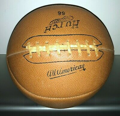 Vintage Antique Circa 1930'S Hutch Model 66 Leather Laced Basketball - Must See!
